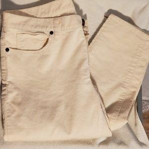 J.Crew Cream 31 Toothpick Corduroy Ankle Pants